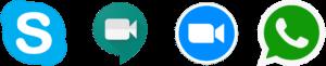 Logotypy komunikatorów internetowych